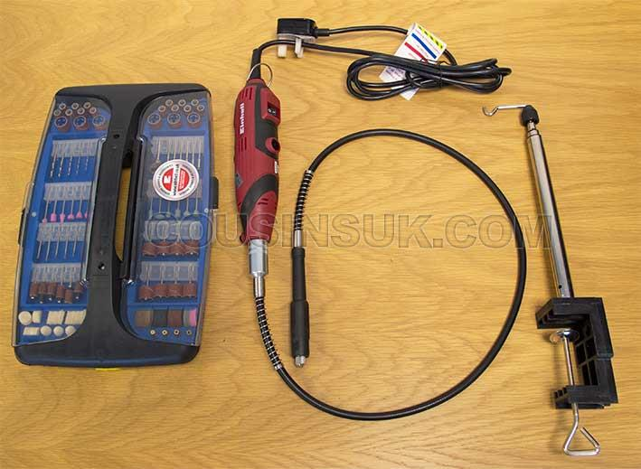 Rotary Drill & Tool Kit, Variable Speed Plus Flexi Shaft, Handpiece & Stand