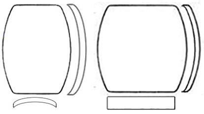 Glasses, Barrel Shaped (Domed)