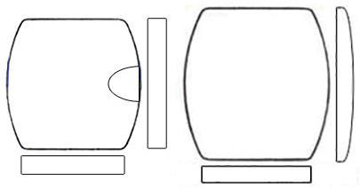 Glasses, Barrel Shaped (Flat)