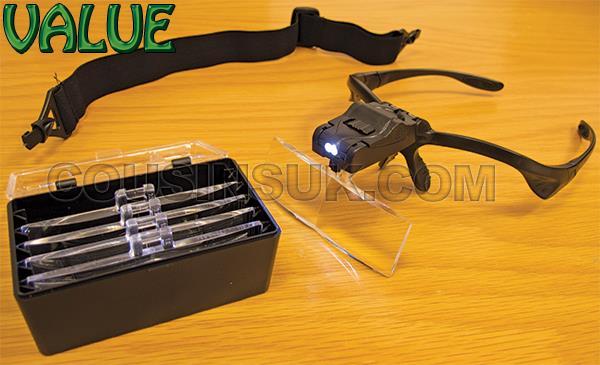 Binocular Magnifiers with L.E.D Light - 5 Lens