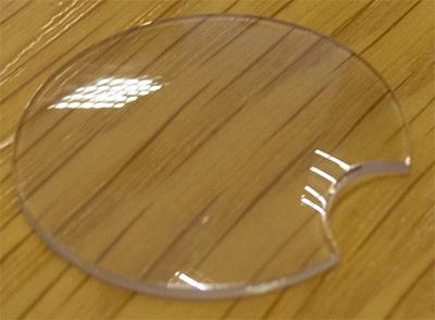 Glasses, Round with Cut Out (Domed)