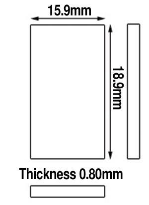 Glasses, Rectangular (Flat)