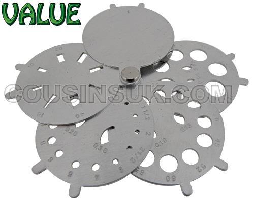 Diamond / Stone Fan Gauge, Circular