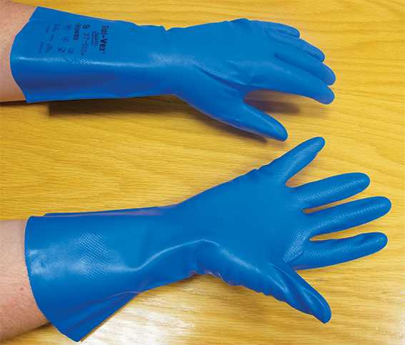 Large (Size 8.5) Chemical Resistant Gloves