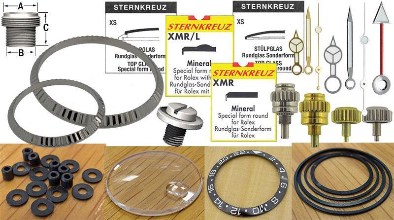 Generic Rolex Case & Bracelet Parts (by List)