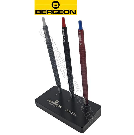 Set of 3 with Base, Bergeon 7404.S03