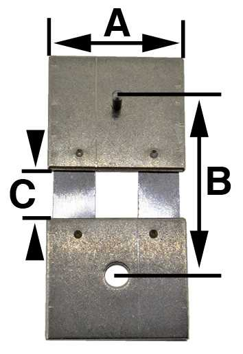 E021-02480, (5) B = 14.5mm (A = 12.15mm & C = 4.1mm)