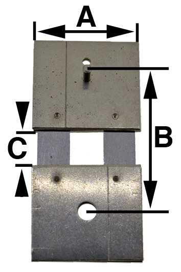 E021-02481, (6) B = 15.2mm (A = 12.3mm & C = 4.1mm)