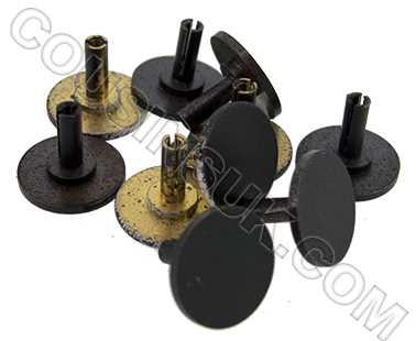 Centre Seconds Hand Caps (EF & NEF), Metal (Ø10mm), Black