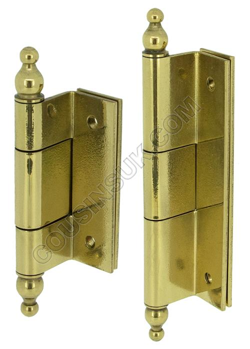 Hinges, Double Crank with Finial
