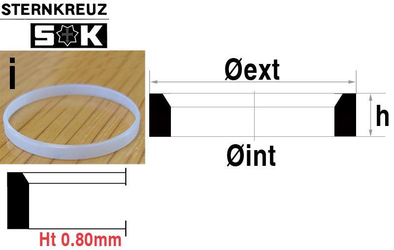 i-Ring, Height 0.80mm, Sternkreuz