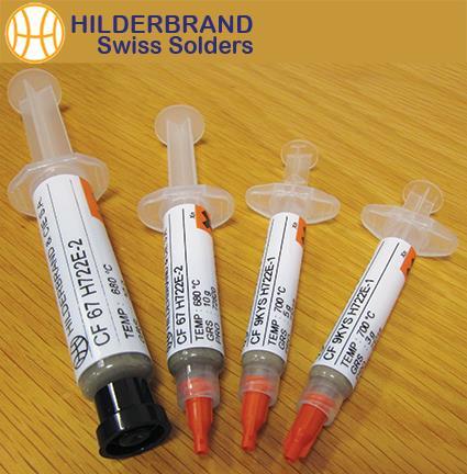 Solder Syringes, 9ct, 18ct, Silver