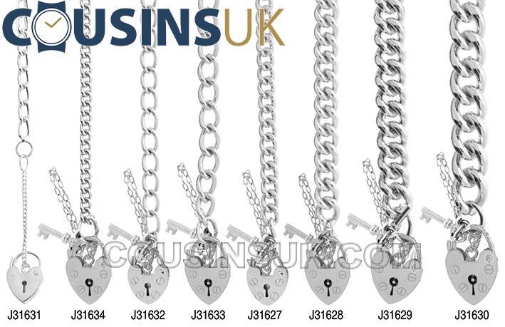 Charm Bracelets, Ladies Oval Curb