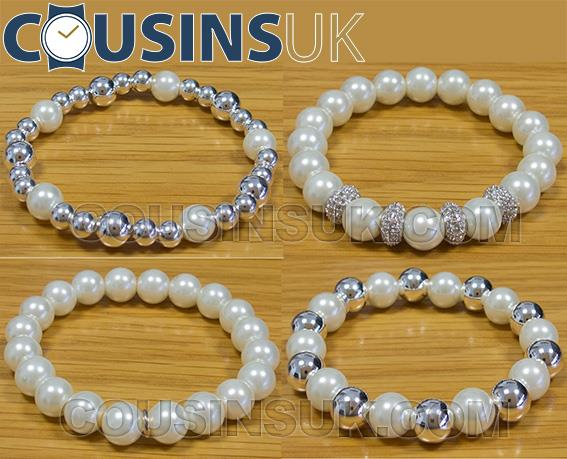 Pearl (Faux) & Silver Beads