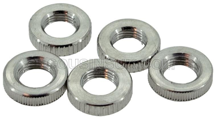 Minute Hand Nuts (Open), Chrome