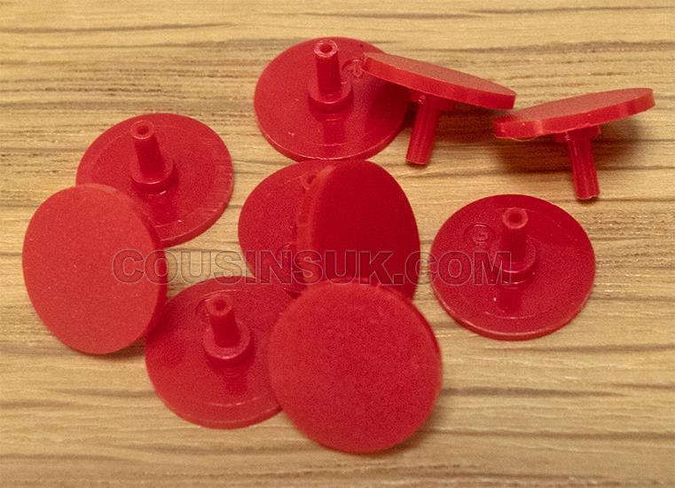 Centre Seconds Hand Caps (EF & NEF), Plastic (Ø10mm), Red
