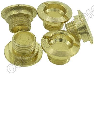 Centre Nut, Brass 6mm (Domed)