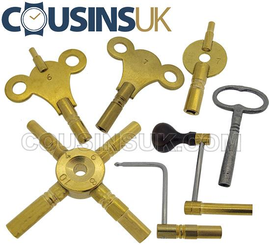 Clock Keys Imperial, UK Made