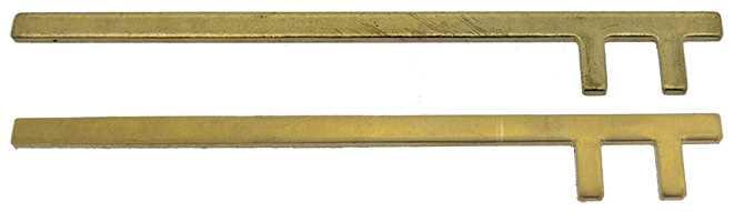 Straight, Bi-Pin (for Longcase Clocks)
