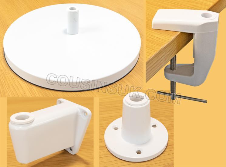 Desk & Wall Bases & Brackets