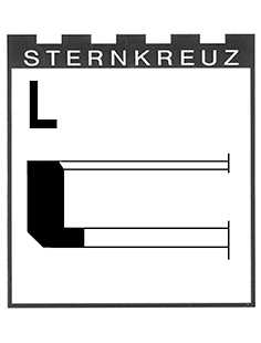 L-Ring Height 1.70mm, Sternkreuz