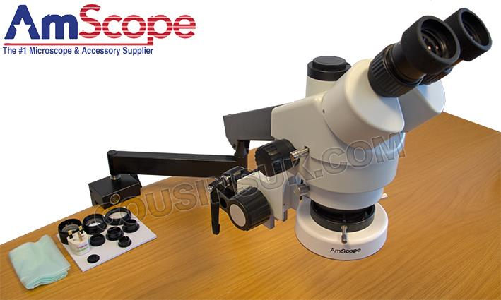Amscope Microscope, with Articulating Arm