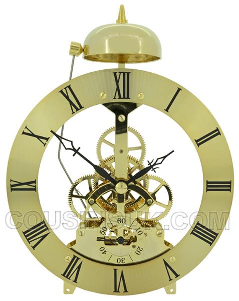 Gold, Ø135mm Skeleton Movement with Bell