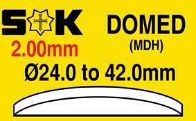 2.00mm, Domed (Straight Wall), Sternkreuz MDH