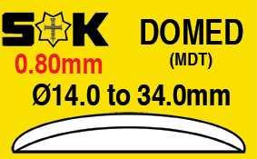 0.80mm, Domed, Sternkreuz MDT