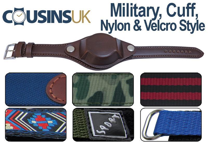 Military, Cuff, Nylon & Velcro Style