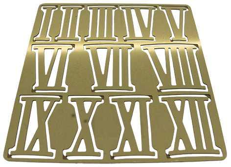 Metal (Brass) Brass Colour, Roman Numbers