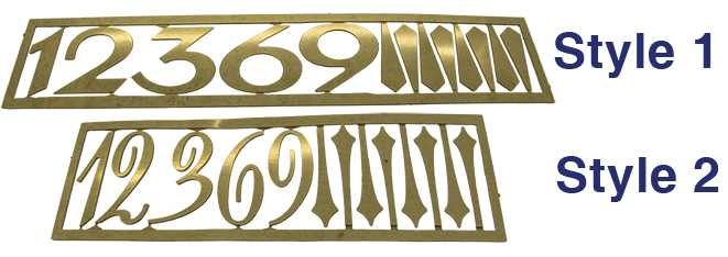 Metal (Brass) Brass Colour, Arabic Numbers & Batons