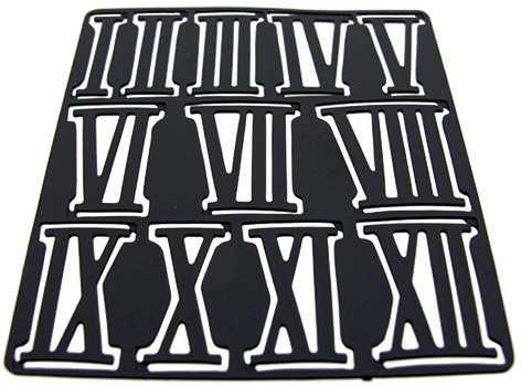 Metal (Brass) Black, Roman Numbers