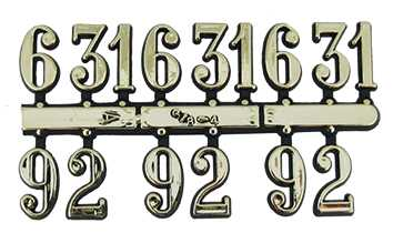Style 2 (21mm High) Numerals