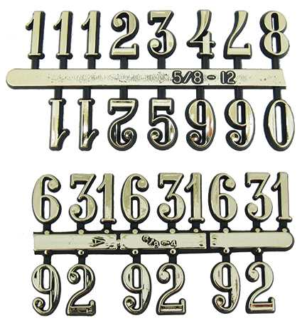 Plastic (Brass Colour), Arabic Numbers