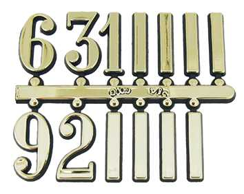 Plastic (Brass Colour), Arabic Numbers & Batons