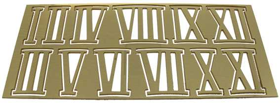 Metal (Brass) Brass Colour, Roman Numbers, Superior