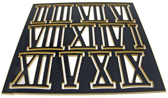 Metal (Brass) Black, Roman Numbers, Superior