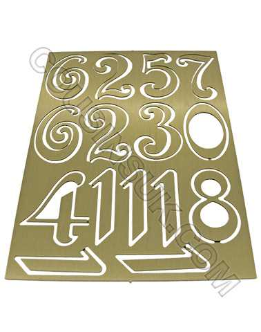 Metal (Brass) Brass Colour, Arabic Numbers