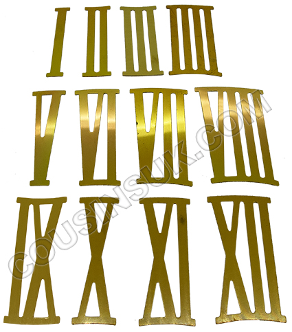 Metal (Aluminium) Brass Colour, Roman Numbers
