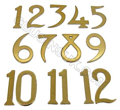 Metal (Aluminium) Brass Colour, Arabic Numbers