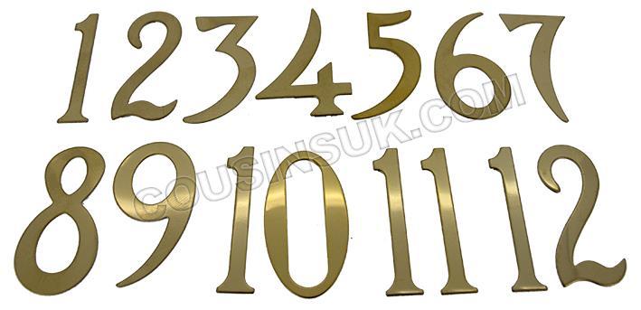 Metal (Titanium) Brass Colour, Arabic Numbers