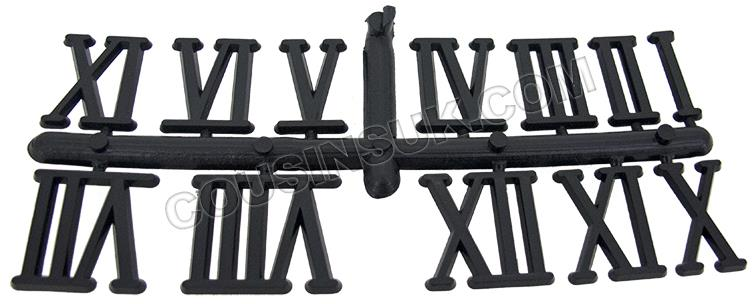 Plastic (Black Colour), Roman Numbers