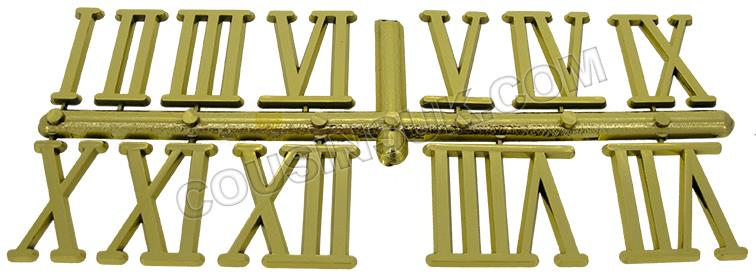 Plastic (Brass Colour), Roman Numbers