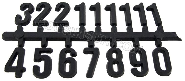 10mm High Numerals