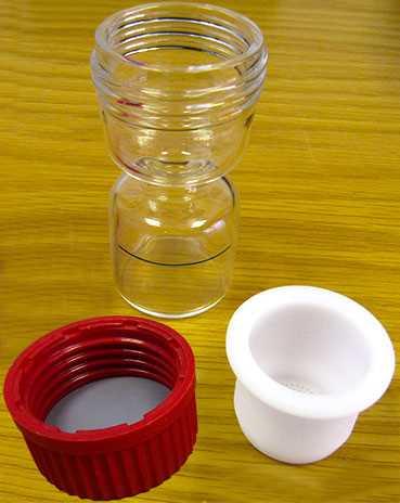 Epilame Bottle with Basket, Moebius