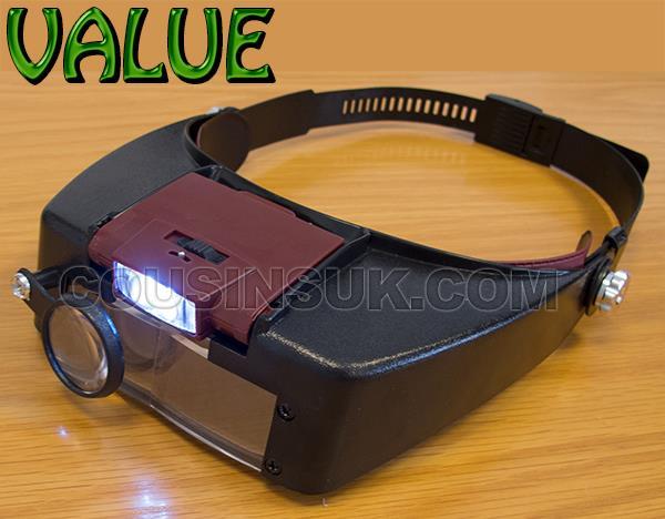 Multiple Lens Optivisor with LED Light