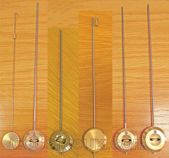 French Clock Pendulums