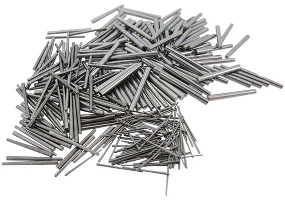 Steel Clock Pins, by Size