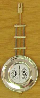 165 x Ø63mm (Stamped 25cm) Hermle Pendulum